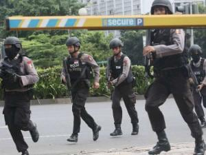 Bombs and gunfire rock Jakarta