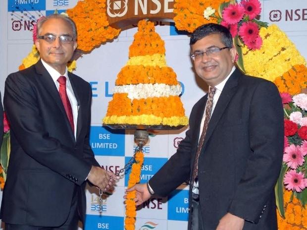 BSE, NSE, Sudhakar Rao,  Ashok Chawla, Ashish Chauhan, listing ceremony