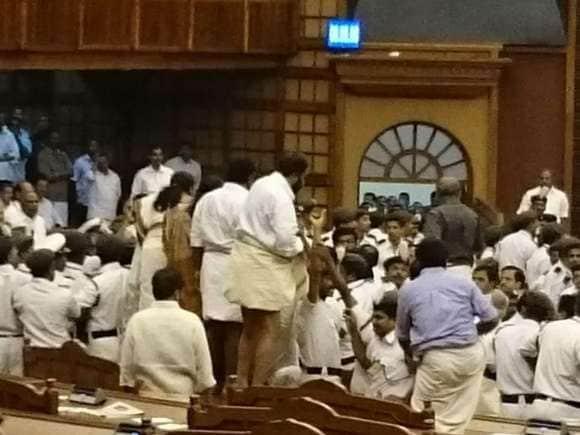 Kerala Assembly, Thiruvananthapuram, Budget, Protest