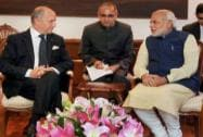 Modi with Laurent Fabius