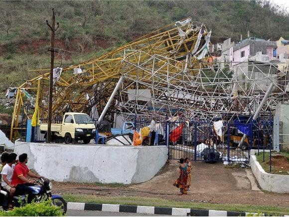 Hudhud Cyclone, Vishakapatnam, Vizag