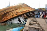Damage caused by Cyclone Hudhud in Visakhapatnam