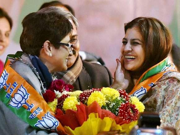 Kiran Bedi, Shazia Ilmi, BJP, Amit Shah