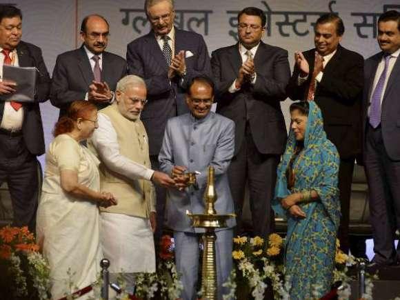 Global Investors Summit, Narendra Modi, Mukesh Ambani, Gautam Adani, Cyrus Mistry, Shivraj Singh Chouhan