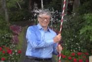 Bill Gates takes the ice bucket challenge