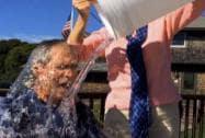 Bush takes the ice bucket challenge