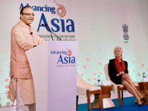 IMF chief addresses Advancing Asia conference