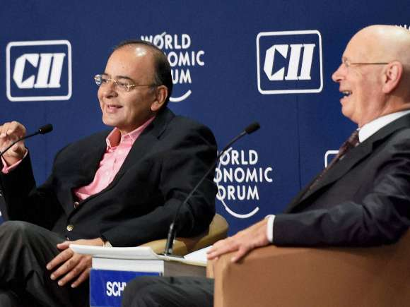 Arun Jaitley, World Economic Forum, Sunil Bharti Mittal, Anand Mahindra