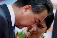 Sushma Swaraj with Xi Jinping