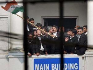 JNU row: Kanhaiya Kumar attacked