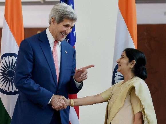 John Kerry, Penny Pritzker, Arun Jaitley, Sushma Swaraj, Ajit Doval, US