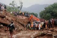 Landslide at Malin village in Pune