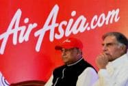Fenandes, Tata during Air Asia launch in Bengaluru