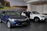 Sahr at the launch of BMW X3