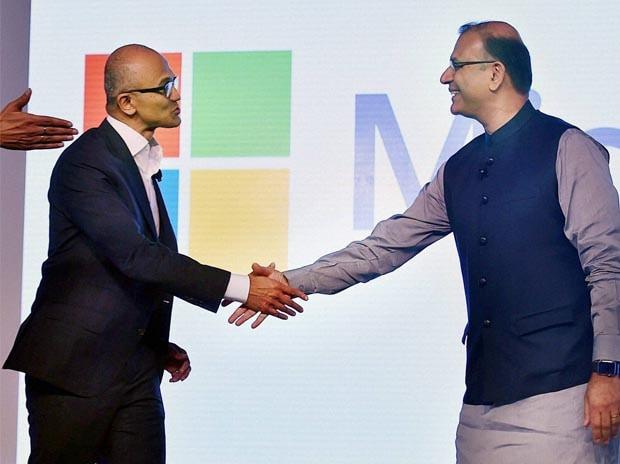 Satya Nadella, Microsoft, Jayant Sinha, New Delhi