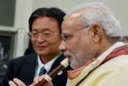 Modi tries a flute