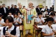 PM Modi back to school