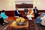 PM with Kerry, Pritzker and Sushma Swaraj