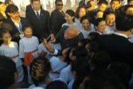 Modi on a selfie spree in China