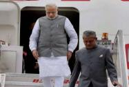 Modi arrives at AFS Palam