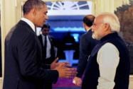 Obama with Modi