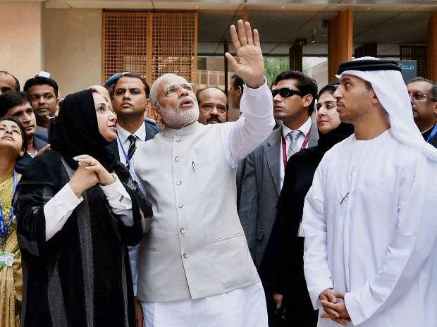 Narendra Modi, Masdar city, Abu Dhabi, UAE