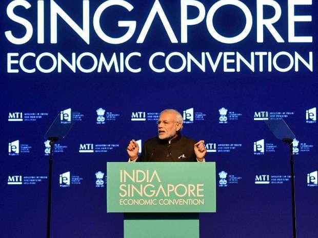 Narendra Modi, India, Singapore, Lee Hsien Loong