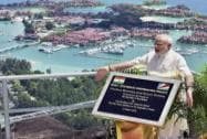 Modi sails through Indian Ocean