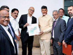 Nadella in India, visits T-Hub