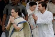 Sonia and Rahul Gandhi leave after paying tributes