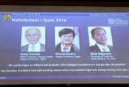 Nobel prize winners Akasaki, Amano and Nakamura
