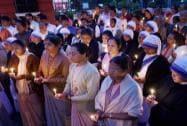 Nun rape case: People stage protest