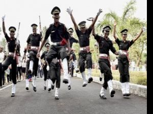 Passing out parade at the OTA in Chennai