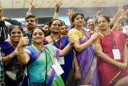 ISRO scientists celebrate the success of MOM