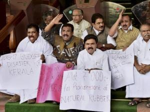 Protest against Budget 2016
