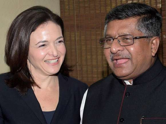 Ravi Shankar Prasad, Sheryl Sandberg, Facebook, Communications and IT