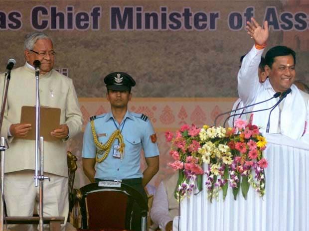 Sarbananda Sonowal, Narendra Modi, Swearing-in, Rajnath Singh