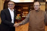 Satya Nadella visits India