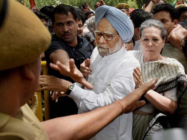 Manmohan Singh, Sonia Gandhi, Arrest, Loktantra Bachao March