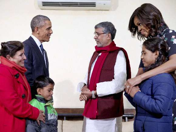 Barack Obama, Michelle Obama, India Visit, Siri Fort