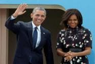 The Obamas bid goodbye to India