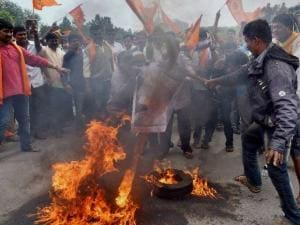 Tipu Sultan row: VHP, BJP members stage protest