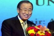 UN Secretary General Ban Ki Moon in India