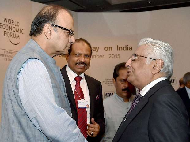 World Economic Forum, Arun Jaitley, Klaus Schwab, Hari S Bhartia