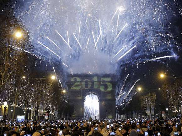 New year, Pope Francis, London Eye, Paris