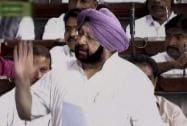Amarinder Singh speaks during the Budget session