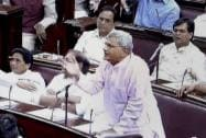 Sitaram Yechury speaks during the Budget session