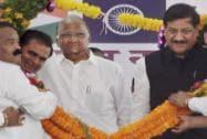 Sharad Pawar, Maharashtra CM Prithviraj Chavan at a rally in Maharashtra