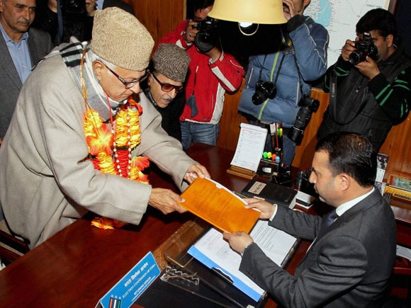 #Farooq Abdullah, #Srinagar, #NationalConference