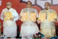 At last BJP unveils its manifesto